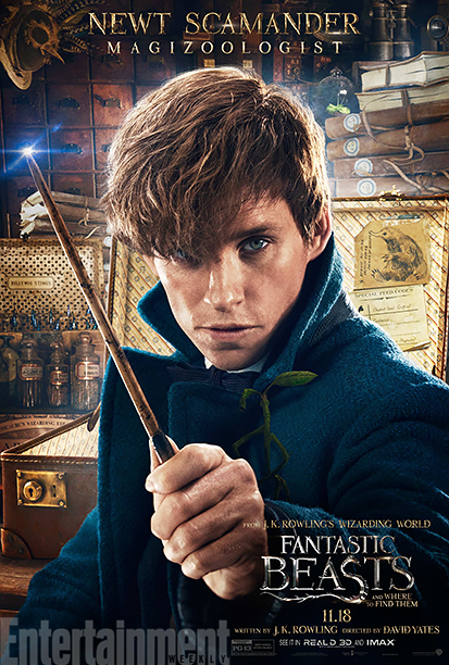 GALLERY: Fantastic Beasts and Where to Find Them - *EXCLUSIVE* Character Posters - Eddie Redmayne as Newt Scamander