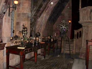 Visitors will meet Harry, Ron and Hermione sneaking into the Defense Against the Dark Arts Classroom