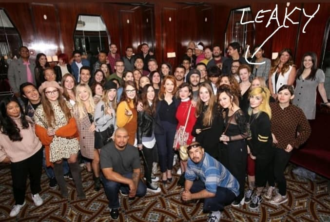 the leaky cauldron with J.K. Rowling at wizarding world fan event 2018 new york