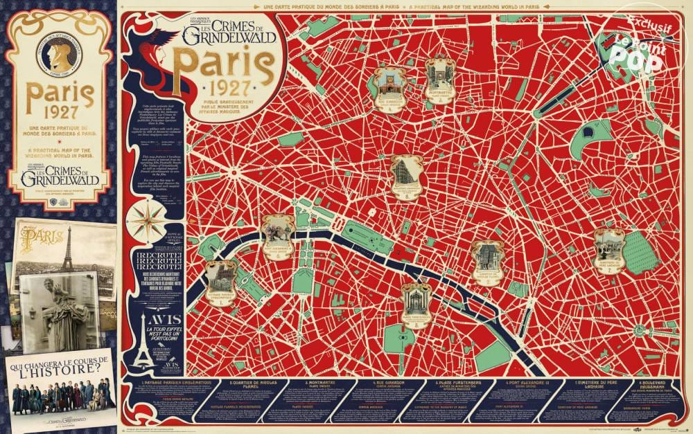 MinaLima Releases Map of the Wizarding World in Paris While J.K. ...
