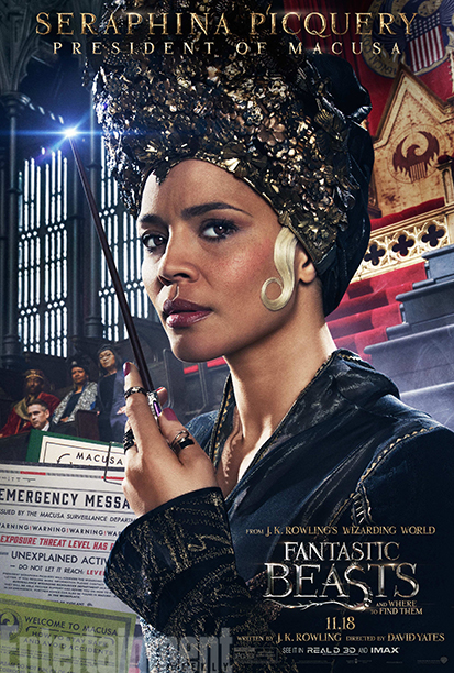 GALLERY: Fantastic Beasts and Where to Find Them - *EXCLUSIVE* Character Posters - Carmen Ejogo as Seraphina Picquery