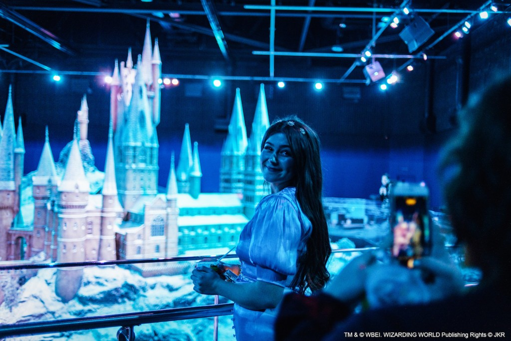 9. WW-Gold-Christmas-Party_Hogwarts Model