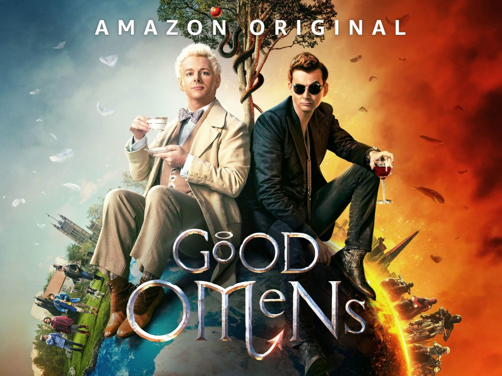 Aziraphale (Sheen) & Crowley (Tennant) in Amazon's Good Omens