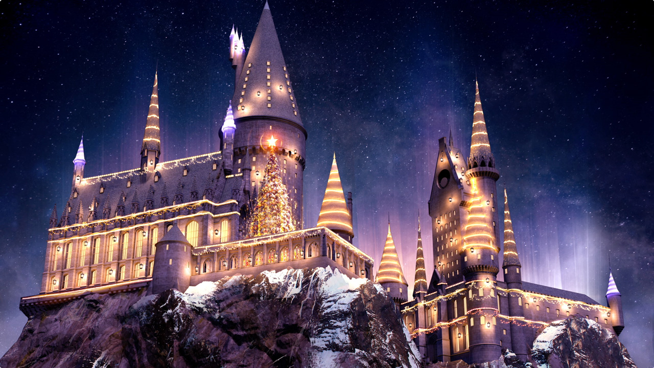Christmas makeover for Wizarding World of Harry Potter