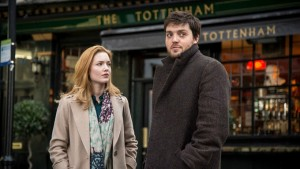 Robin Ellacot (Holliday Grainger) and Cormoran Strike (Tom Burke)