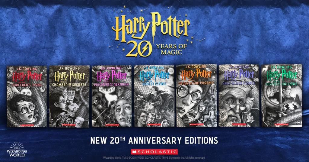 f2a25cecc0d2 Harry Potter  20th Anniversary U.S. Editions With Cover Art By Brian ...