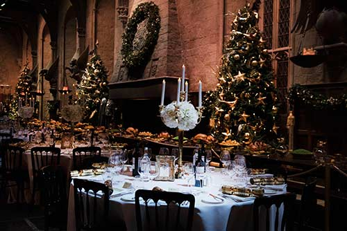 Christmas Dinner In The Great Hall At Hogwarts 2020 Christmas at Hogwarts returns to Warner Bros. Studio Tour London