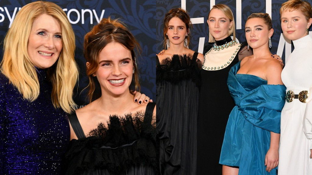 Emma watson little women premiere with cast