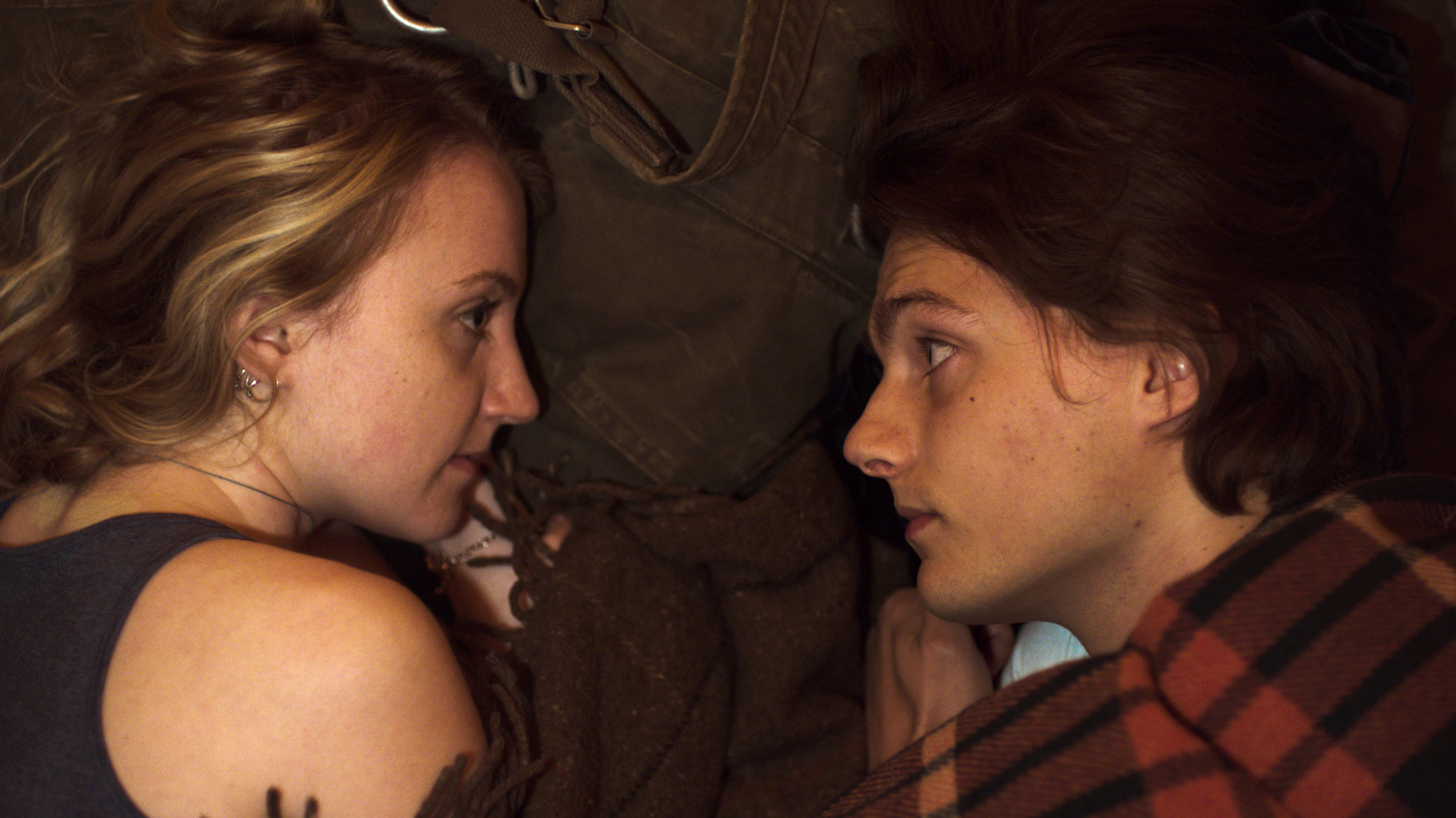 Evanna Lynch & George Webster in a scene from MY NAME IS EMILY. Photo Courtesy of Monument Releasing