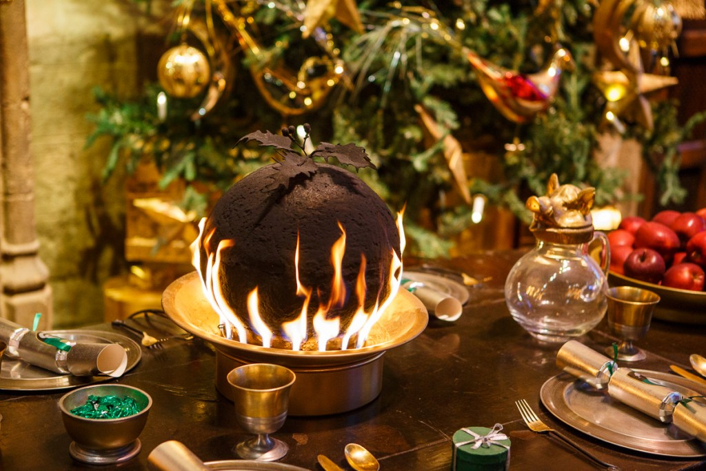 Great Hall - Flaming Christmas Puddings (5)