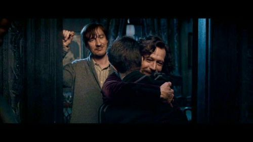 Harry with Sirius and Remus