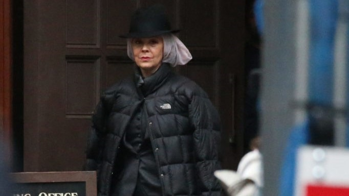 Paul Anderson, Helen McCrory, Finn Cole Reprise Their Roles As Arthur Shelby, Polly Gray and Michael Gray With New Peaky's Character. Pictured: Helen McCrory Ref: SPL5032792 121018 NON-EXCLUSIVE Picture by: SplashNews.com Splash News and Pictures Los Angeles: 310-821-2666 New York: 212-619-2666 London: 0207 644 7656 Milan: 02 4399 8577 photodesk@splashnews.com World Rights