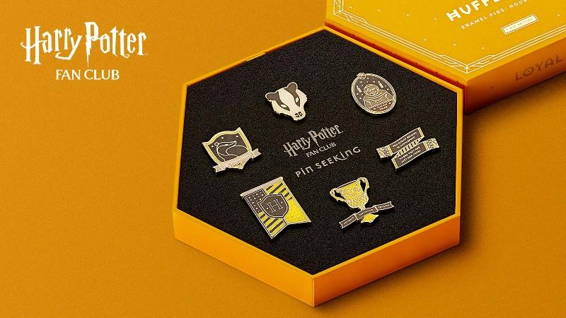 Harry Potter Fan Club Hufflepuff Pins