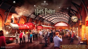 Platform 934 and the Hogwarts Express - Concept Art (with logo) - social use (1)