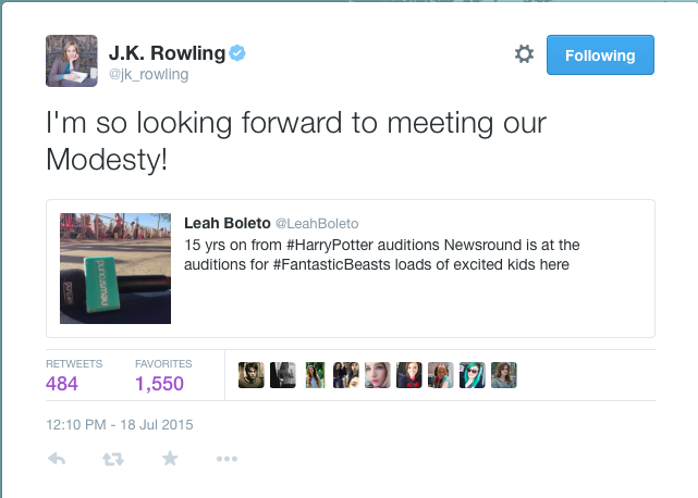 UPDATE: Coverage of Fantastic Beasts Casting Call in