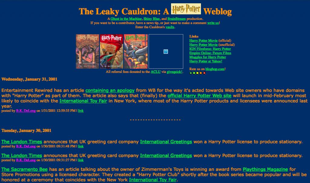 The-Leaky-Cauldron org, 19 Years Later - The-Leaky-Cauldron