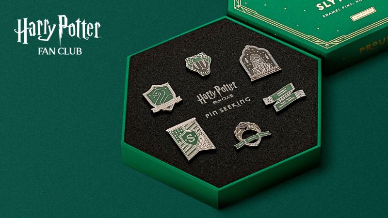 Harry Potter Fan Club Slytherin Pins