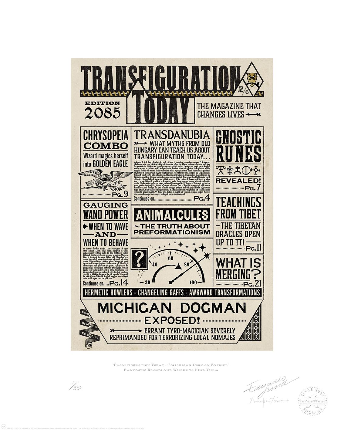 Transfiguaration Today_MinaLima 1