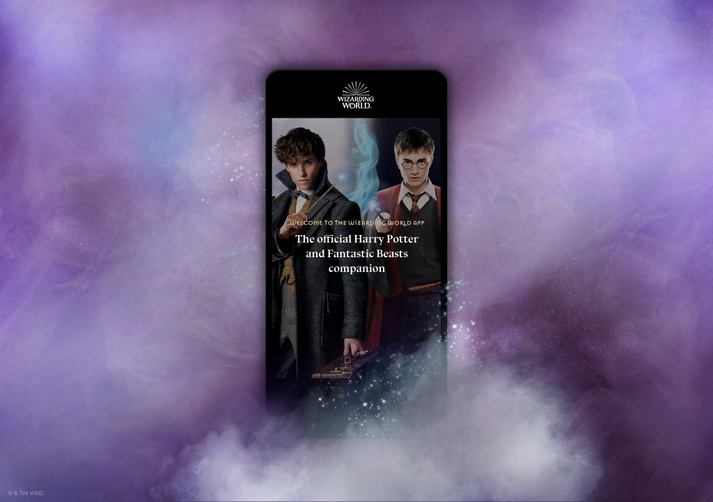 WWD_Mobile_Welcome Screen Newt Scamander & Harry Potter-min