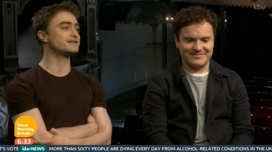 Radcliff and Joshua McGuire on Good Morning Britain.