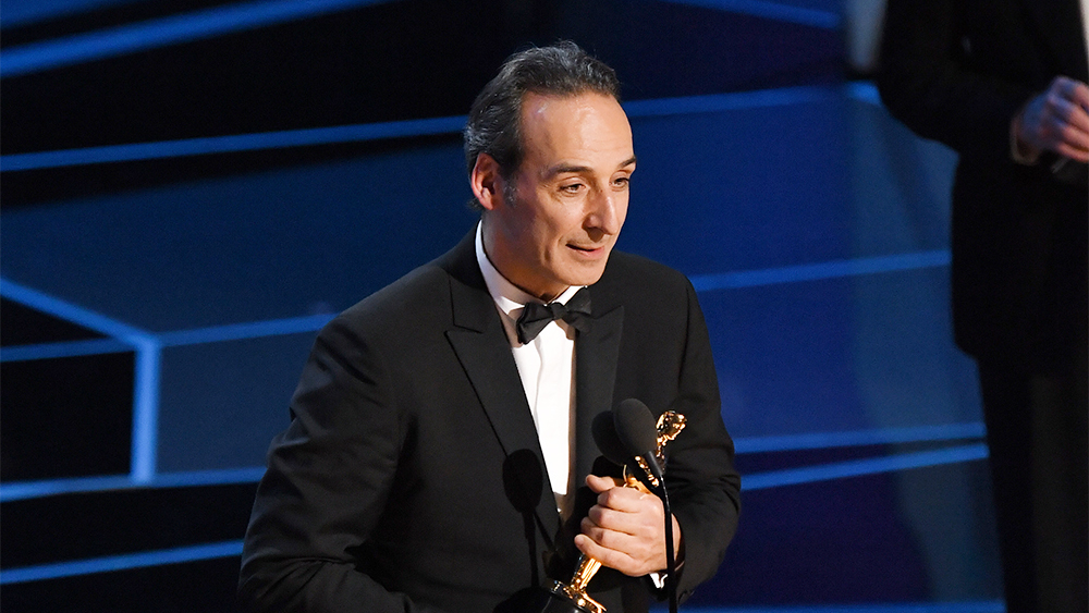 Mandatory Credit: Photo by Rob Latour/REX/Shutterstock (9446184hw) Alexandre Desplat - Original Score - 'The Shape Of Water' 90th Annual Academy Awards, Show, Los Angeles, USA - 04 Mar 2018