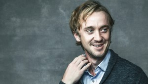 LONDON, ENGLAND - OCTOBER 05:  ( EDITORS NOTE: This image has been digitally retouched) Actor Tom Felton is photographed during the 60th BFI London Film Festival at The Mayfair Hotel on October 5, 2016 in London, England.  (Photo by Gareth Cattermole/Getty Images)