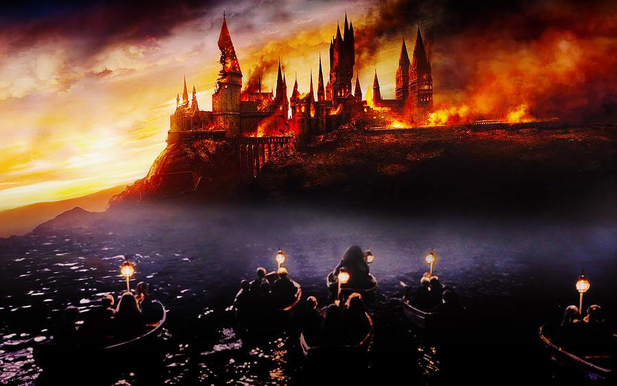 burning_hogwarts_by_lennves_d4gokf4-fullview