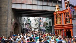 Diagon Alley crowds