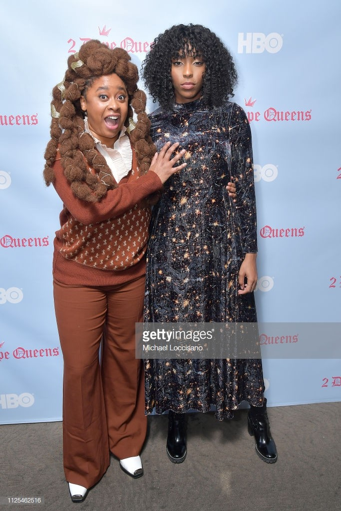 "PARK CITY, UTAH - JANUARY 27: Phoebe Robinson (L) and Jessica Williams attend the HBO ""2 Dope Queens"" brunch and conversation during Sundance 2019 at Tupelo on January 27, 2019 in Park City, Utah. (Photo by Michael Loccisano/Getty Images for HBO)"