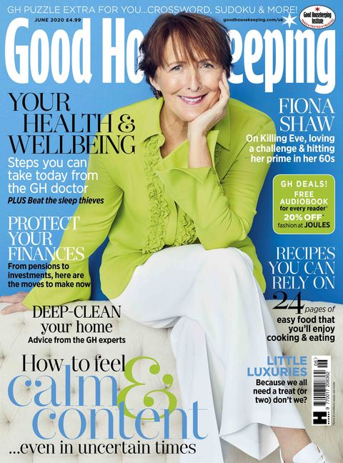 Good Housekeeping, June 2020, With cover star Fiona Shaw