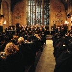 "The choir with singing toads in the Great Hall from in Warner Bros. Pictures' ""Harry Potter and the Prisoner of Azkaban."""