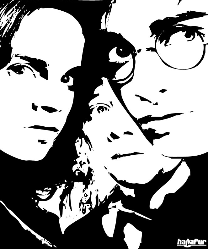 Hermione, Sirius, Ron & Harry