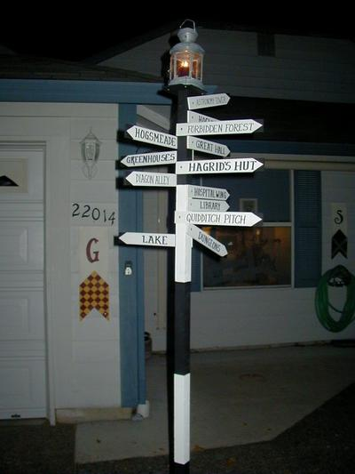 Hogwarts signpost the leaky the leaky for Decoration harry potter