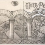Harry Potter Book Series  Mary Grandpre Original Sketches 'The School of Magic'/'The Sorcerer's Stone' alternate cover