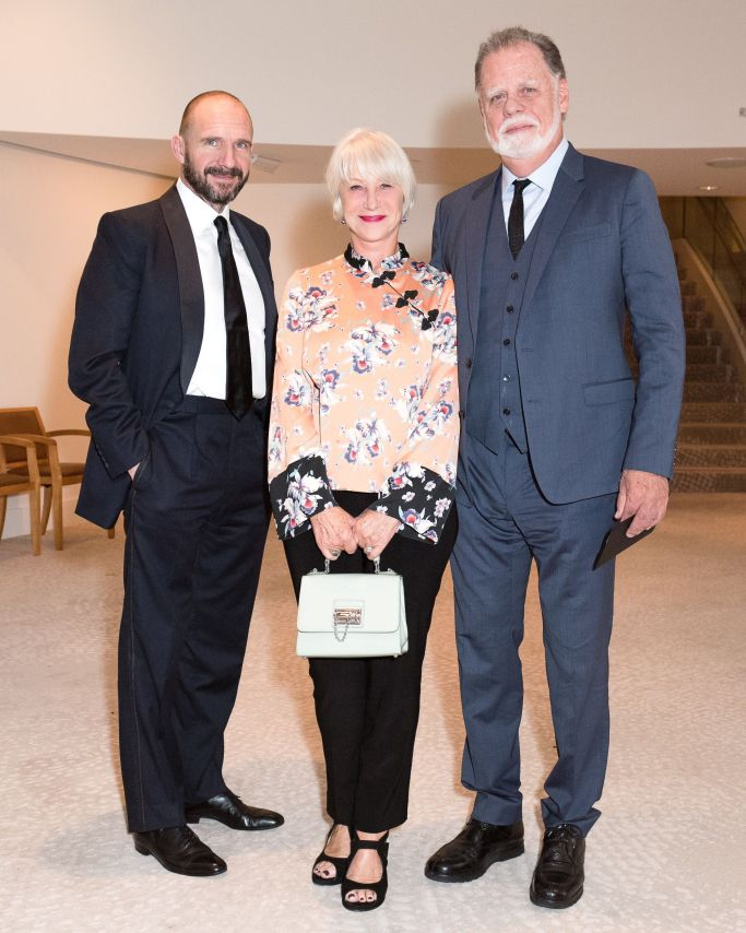 Mandatory Credit: Photo by Owen Kolasinski/BFA/REX/Shutterstock (9181503el) Ralph Fiennes, Helen Mirren, Taylor Hackford South Coast Plaza 50th Anniversary Concert and Dinner Gala, Costa Mesa, USA - 30 Oct 2017