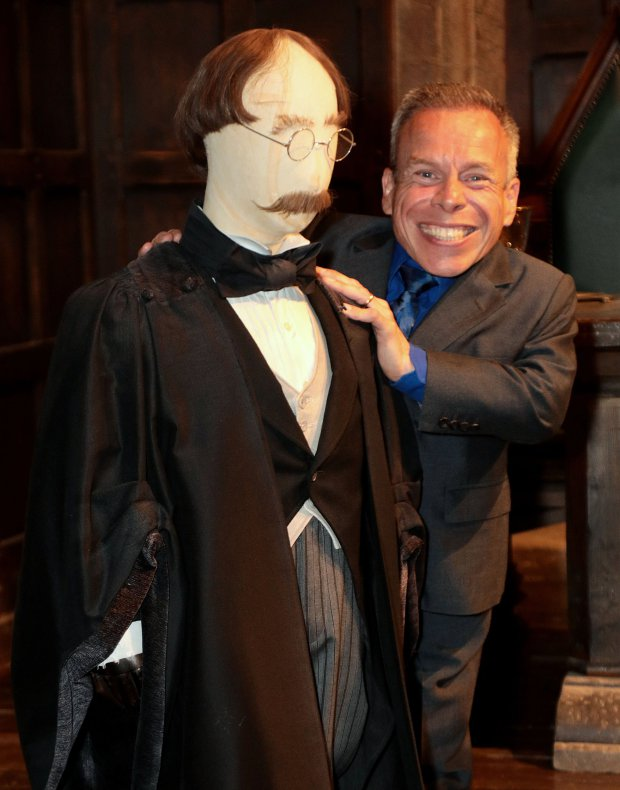 The exclusive launch of the Harry Potter Quiz in the Great Hall at Warner Bros. Studio Tour London - The Making of Harry Potter on July 3, 2018 in Watford, England  Featuring: Warwick Davis Where: London, United Kingdom When: 03 Jul 2018 Credit: Lexi Jones/WENN.com