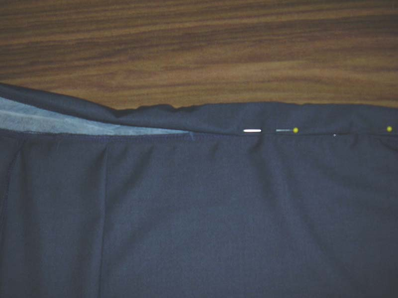 Sewing the Waistband to the Skirt