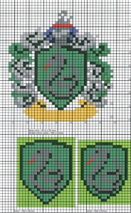 Slytherin Crest Knitting Chart