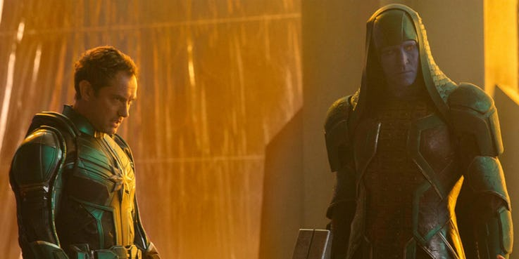 Captain-Marvel-Jude-Law-and-Lee-Pace-as-Ronan-the-Accuser