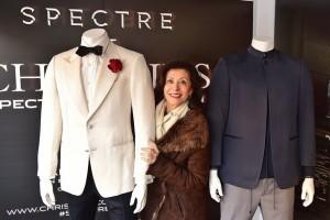 Costume-designer-Jany-Temime-with-Spectre-memorabilia
