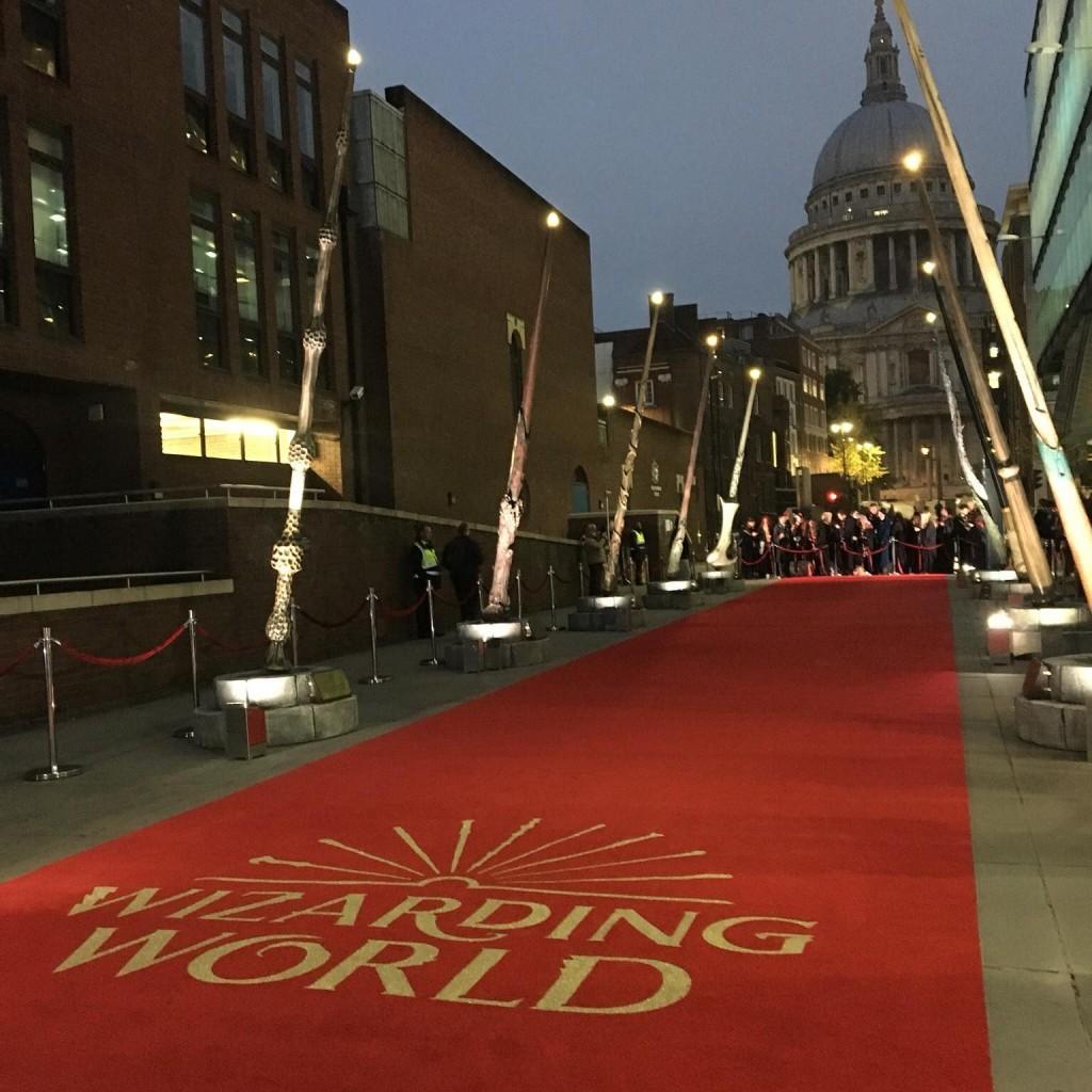 wizarding world wand installation in london 2018