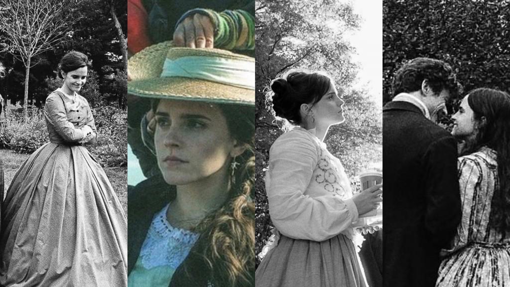 Emma Watson Little Women new shots collage