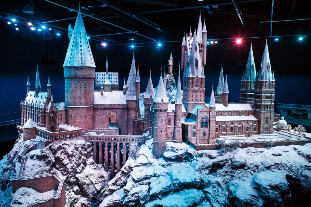 Hogwarts castle model in the snow (5)