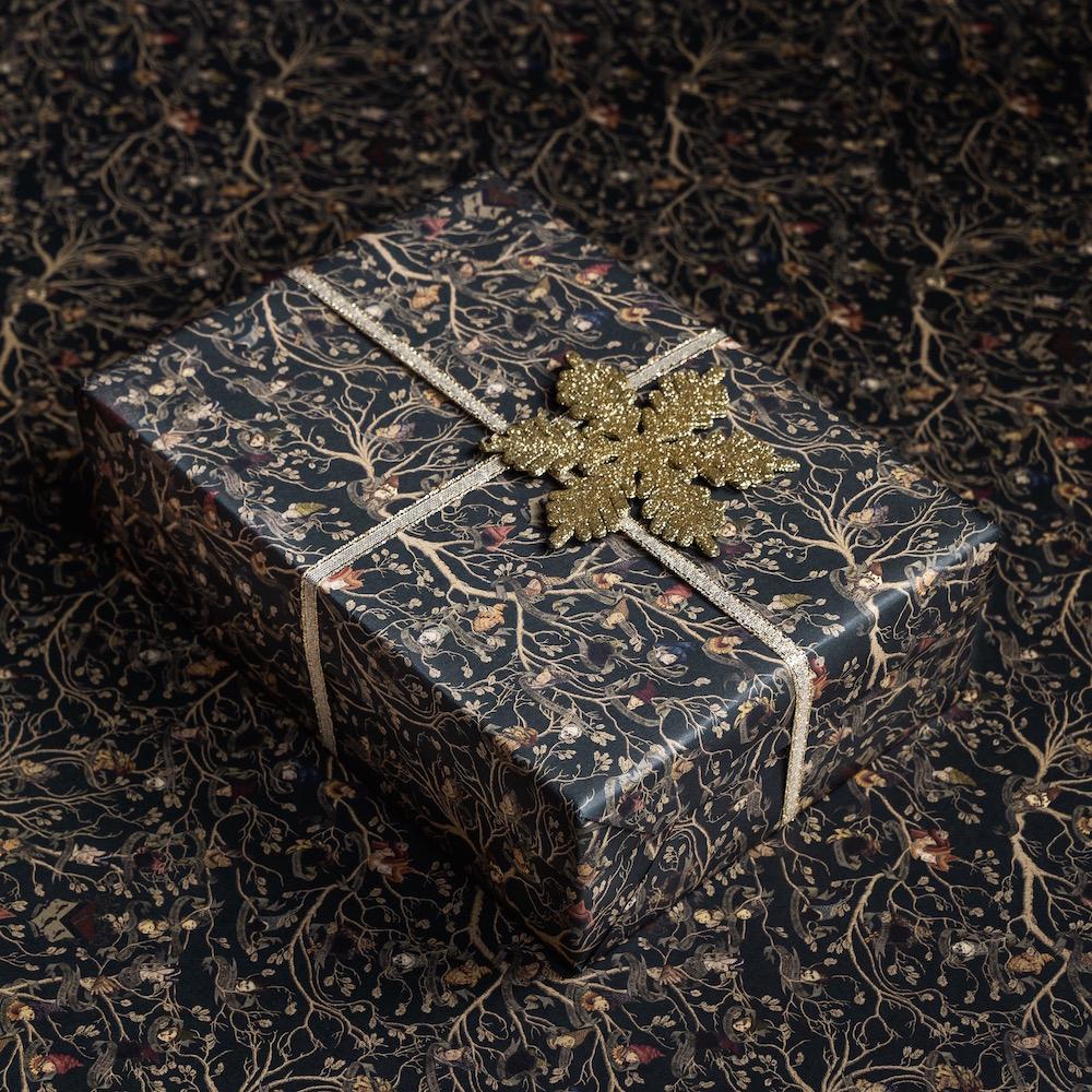 MinaLima_Black Family Tapestry gift wrap_1
