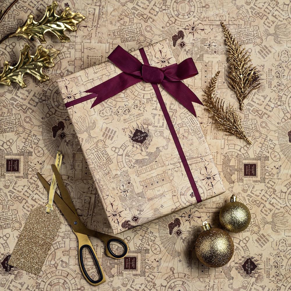 MinaLima_Marauders Map gift wrap_3