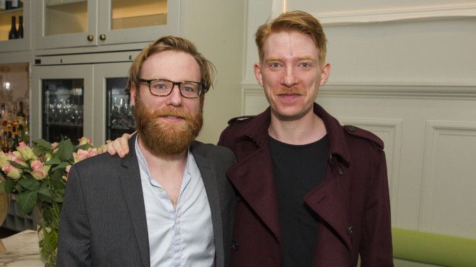Mandatory Credit: Photo by Dan Wooller/Shutterstock (8972301bu) Brian Gleeson (Gooper) and Domhnall Gleeson 'Cat On A Hot Tin Roof' play, After Party, London, UK - 24 Jul 2017