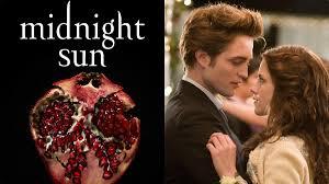 Midnight Sun book cover, alongside franchise stars, Kristen Stewart and Robert Pattinson
